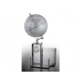 收納造型時鐘功能地球儀 y01332  立體雕塑.擺飾 地球儀系列--無庫存