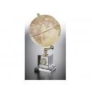 時尚造型時鐘地球儀-仿古色 y 01333 立體雕塑.擺飾 地球儀系列--無庫存