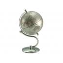 流線造型亮面地球儀-銀色 y01335 立體雕塑.擺飾 地球儀系列--無庫存