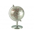 銀色亮面地球儀 y01339  LA-1057-1立體雕塑.擺飾 地球儀系列--無庫存