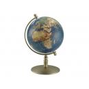 銅色底作深藍霧面地球儀 y01341 LA-1056-4 立體雕塑.擺飾 地球儀系列--無庫存