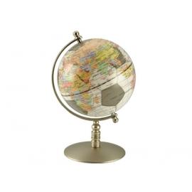 銅色底座彩色亮面地球儀 y01342 立體雕塑.擺飾 地球儀系列--無庫存