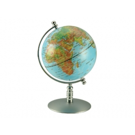 銅色底座水藍亮面地球儀 y01343立體雕塑.擺飾 地球儀系列--無庫存