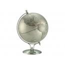 銀色時尚造型地球儀 y01346 立體雕塑.擺飾 地球儀系列---無庫存