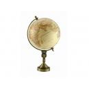 仿古色霧面立體浮雕銅鑄造型地球儀 y01348 立體雕塑.擺飾 地球儀系列