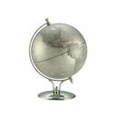 銀色時尚造型亮面地球儀 y01349 立體雕塑.擺飾 地球儀系列--無庫存