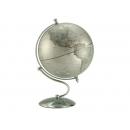 銀色流線造型亮面地球儀 y01350 LA-1125-1 立體雕塑.擺飾 地球儀系列--無庫存