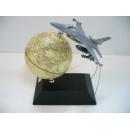 飛機造型地球儀 y01361  LA-1036-5 立體雕塑.擺飾 地球儀系列--無庫存