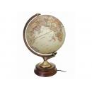 典雅仿古色彩立體地球儀 y01366 立體雕塑.擺飾 地球儀系列 (另有三段式觸控式)