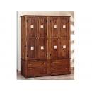 y01391實木貼花衣櫃6X7尺-台灣製造