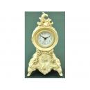 白色古典雕花玫瑰桌鐘 y01403 時鐘.溫度計.鏡子 桌鐘-白色古典雕花玫瑰桌鐘CLT-072(缺貨中)