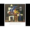 y01431畢卡索Picasso複製畫Three Musicians  P650