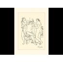 y01441畢卡索Picasso複製畫La couronne de fleurs (serigraph)  P279