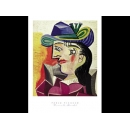 y01443畢卡索Picasso複製畫Woman with a Blue Hat  LF33