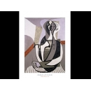 y01447畢卡索Picasso複製畫Seated Woman, 1927  LF108