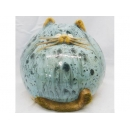 y01500(陶藝品)胖貓K01069E