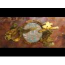 y01593銅雕系列-銅雕壁飾- 如意銅雕壁飾