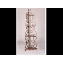 y01690 鐵材藝術系列-鐵材置物架-雅緻扇形四層架W40016-9