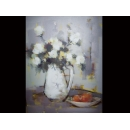 瓶花靜物于花開-y01827(油畫)