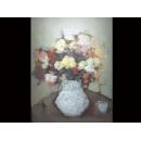 瓶花靜物于花開-y01828(油畫)