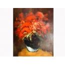 瓶花靜物于花開-y01830油畫