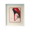 y02050-複製畫-時尚系列-高跟鞋(紅)