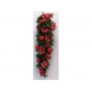 y02108-聖誕作品-創意聖誕紅藤(紅)