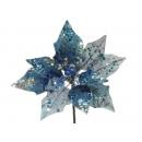 y02139-花材-珠光聖誕紅(藍)