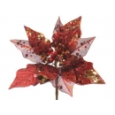 y02144-花材-珠光聖誕紅(紅)