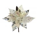 y02145-花材-珠光聖誕紅(白)