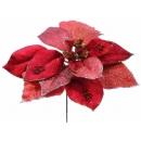 y02149-花材-聖誕花(正紅)