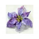 y02159-花材-聖誕花(夾式)(淺紫)