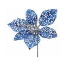 y02160-花材-晶網聖誕花(藍)