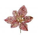y02163-花材-晶網聖誕花(紅)