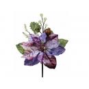 y02208-花材-聖誕花(紫)