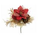 y02215-花材-聖誕插飾(紅)