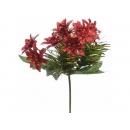 y02221-花材-彩晶聖誕花飾(紅)