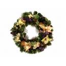 y02275-花材-聖誕圈