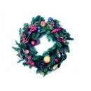 y02277-花材-聖誕圈