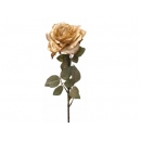y02328-花材-金典花材-金邊玫瑰(金)