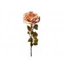 y02329-花材-金典花材-金邊玫瑰(豆沙 )