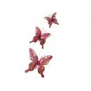 y02411-裝飾品-珠片蝶(紅)
