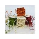 y02487-裝飾品-木珠紙藤