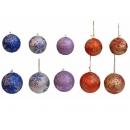y02527-裝飾球-閃粉雪花球8cm6入-10cm3入