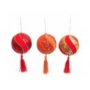 y02537-裝飾球-金珠绒球