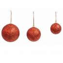 y02539-裝飾球-鐳射球(紅)