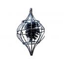 y02573-裝飾球-松果吊飾(藍色)