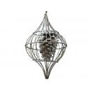 y02575-裝飾球-松果吊飾(銀色)