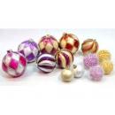 y02577-裝飾球-方格雙色球 螺旋雙色球 砂金球 毛球
