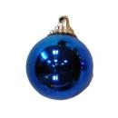 y02579-裝飾球-亮面球.亮光球(藍色)8CM-6入